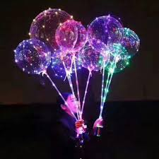 Bubble Night Lights Us 1 43 32 Off Happy Christmas Night Lights Decoration Luminous Led Balloons Transparent Round Bubble Decoration Party Wedding Decorations On