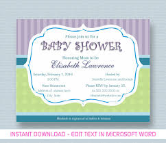 Baby Shower Templates Word Invitation Templates On Microsoft Best Baby Shower Invitation 1