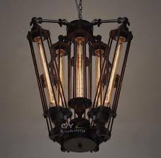 edison bulb chandelier for your home lighting design modern caged edison bulb chandelier metal frame
