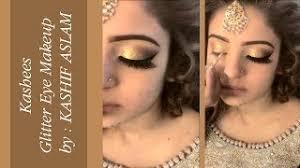 kashees glitter eye makeup by kashif aslam