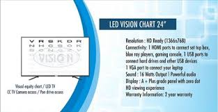 Dot Eye Chart Smart Led Vision Chart 24