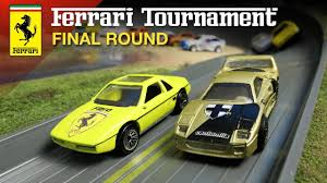 Ferrari Diecast Racing Tournament Final Round 1 64 Car Race Youtube
