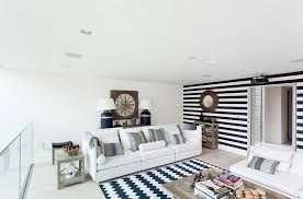 View In Gallery Black And White Striped Accent Wall Works With A Wide Range  Of Styles [Design: