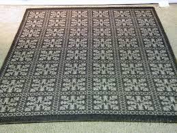 two danish modern reversible machine woven wool viscose and cotton rugs