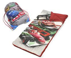 disney cars sleeping bag set lighting mcqueen mach speed sling bag slumber roll product photo affordable lighting set