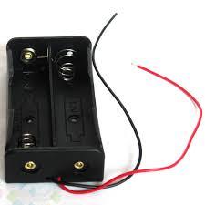diy 2pcs battery storage case box holder for 2 18650 lithium battery holder diy power supply 7 4v high quality dhl free