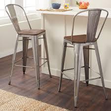 gunmetal bar stool. Modren Stool Shop Tabouret Bistro Wood Seat Gunmetal Finish Bar Stools Set Of 2  Free  Shipping Today Overstockcom 9412704 On Stool