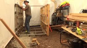 building a pallet wood storage rack in my off grid wood
