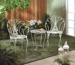 metal outdoor patio sets. 3 piece peacock style bistro patio set white metal table \u0026 2 chairs~10015833 outdoor sets
