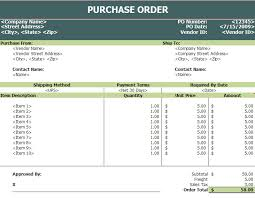 purchase order log template excel purchase order templates in excel