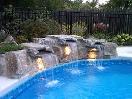 inground pools with waterfalls and hot tubs. Nground-pools-with Waterfalls Inground Pools With And Hot Tubs