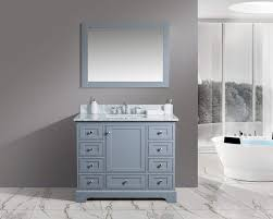 com urbanfurnishing net jocelyn 42 inch 42 bathroom sink vanity set with white italian carrara marble top charcoal home kitchen