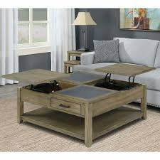 small square lift top coffee table and