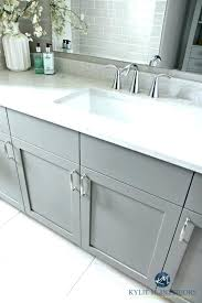 gray bathroom cabinets vanity painted metropolis drift quartz cabinet grey with white countertops