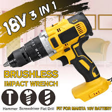3 in 1 18V Cordless Impact Drill 13mm Rechargeable Screwdriver ...