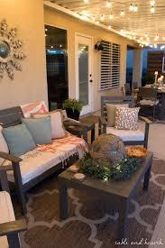 coastal decor lighting.  Coastal Front Patio Decor Light Up The Night Coastal Summer Garden Home  Tour Small Enclosed For Coastal Decor Lighting