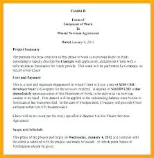 Simple Statement Of Work Template Technical Statement Of Work Template Sundaydriver Co