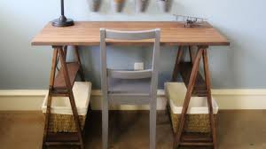 building your own desk designing inspiration build your own sawhorse desk for more work space
