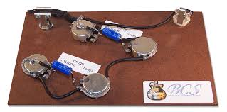 bcs guitars wiring upgrade for gibson epi es guitars bcs vesk 1