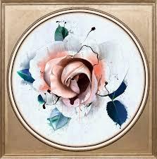 Acrylglasbild Rose Pastell