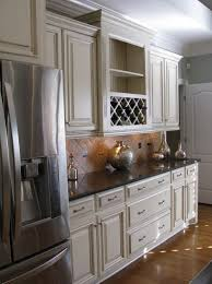 Cream Colored Kitchen Cabinets With Dark Countertops Cabinet Stain