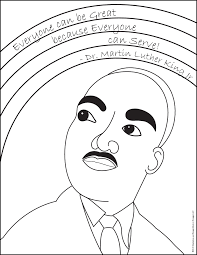 Martin Luther King Jr Coloring Pages For Free Mlk - diaet.me