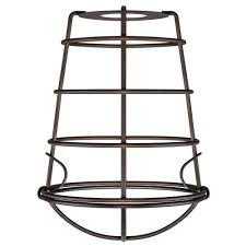industrial cage fixture shade with 2 1 4 in fitter and 6 in w 8503308 the home depot