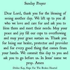 Sunday Prayer Prayers Sunday Prayer Sunday Morning Prayer