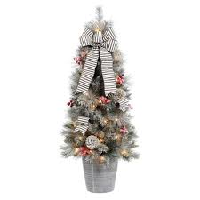 Home Accents Holiday 7 Ft PreLit LED Benjamin Fir QuickSet Holiday Home Accents Christmas Tree