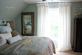 Luscious Linen Balloon Curtains for Master Bedroom