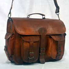 15 handcrafted briefcase designer retro chic rustic portfolio office campaign style leather laptop satchel tan brown portfolio messenger bag