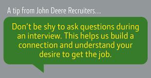 Tips To Interview Interview Tips John Deere Us