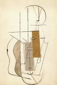 best ideas about picasso cubism pablo picasso picasso collage of still life violin upside down version of head 1913