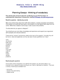 ielts essays planning vocabulary word essays