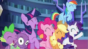 rainbow dash spike pinkie pie twilight sparkle rarity fluttershy pony cartoon pink mammal purple vertebrate horse