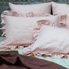 ruffled pillow shams. Beautiful Ruffled Ruffled Pillow Shams Ruffles Soft Washed Linen Set Of 2 Salmon Euro Sham    With Ruffled Pillow Shams C