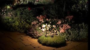 garden lighting on flowers amazing garden lighting flower