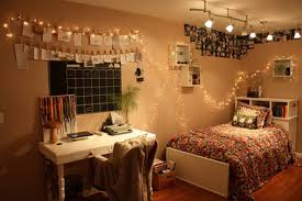 Teenage Bedrooms With Lights Compact Painted Wood Pillows