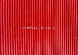 colorful thin rubber mat narrow corrugated rubber floor mat for work