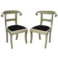 Pair Of Rams Head Metal Wrapped Anglo Indian Regency Style Dowry Wedding  Chairs For Sale Regency Style Furniture G56