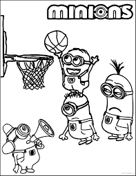 Small Picture Minion Playing Basketball Coloring Pages With glumme