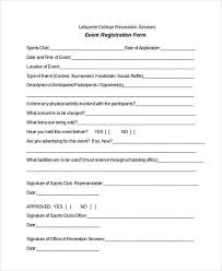 Registration Form Templates For Word Sign Up Form Template Word Registration Form Templates Printable