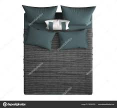 double bed top view. Contemporary Modern Double Bed Pillows Top View Isolated White Background \u2014 Stock Photo