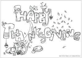 Happy Thanksgiving Colouring Page Printable Coloring Pages For