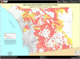 cal fire  san diego county fhsz map
