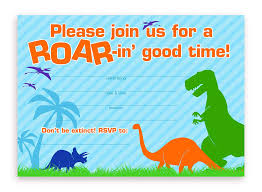 Dinosaur Birthday Invitation Dinosaur Party Invitations 10 Invitations 10 Envelopes