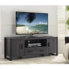 we furniture  grey wood tv stand console  walmartca