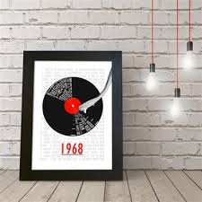 personalised 50th birthday poster retro record