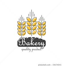 Bakery Logo Vector Isolated Line Outline Wheat Stock Illustration