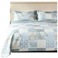 king size patchwork bedding fl 3 piece cotton reversible quilt set s